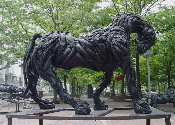Esculturas neumáticos Yong Ho Ji (12)
