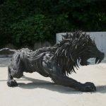 Esculturas hechas de neumáticos por Yong Ho Ji