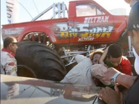 Accidente Monster Truck en Aero Show Extremo