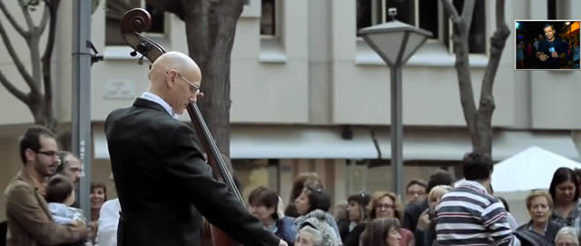 flashmob con Oda a la Alegría