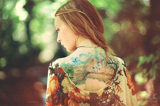 26 ejemplos de tatuajes estilo acuarela artistica 01