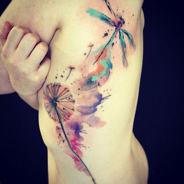 26 ejemplos de tatuajes estilo acuarela artistica 02