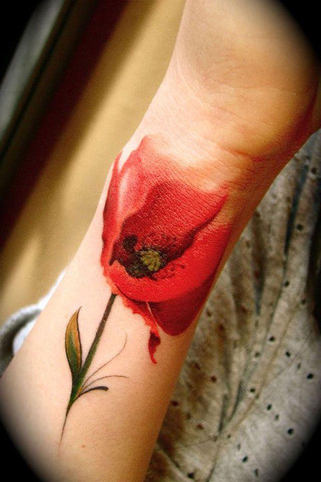 26 ejemplos de tatuajes estilo acuarela artistica 07