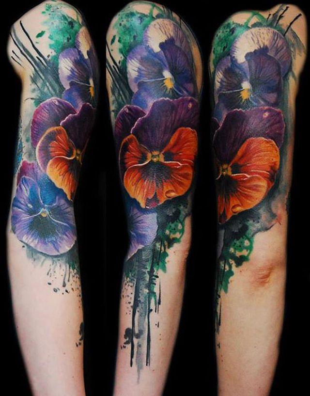 26 ejemplos de tatuajes estilo acuarela artistica 10