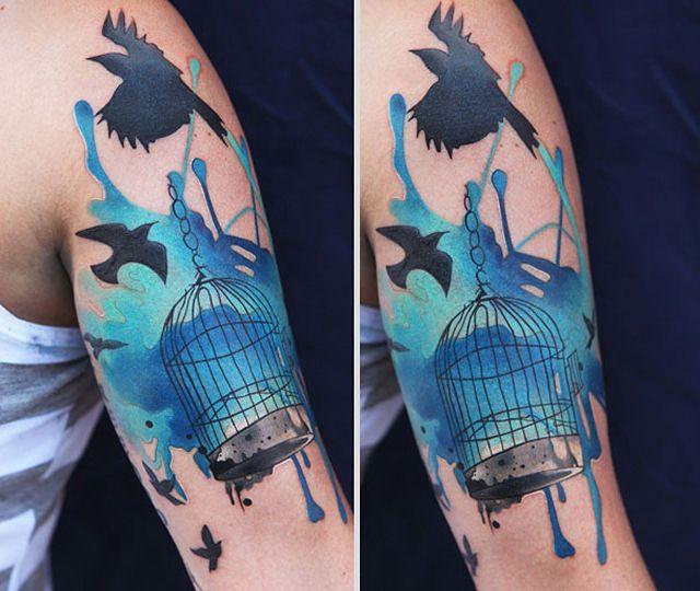 26 ejemplos de tatuajes estilo acuarela artistica 12