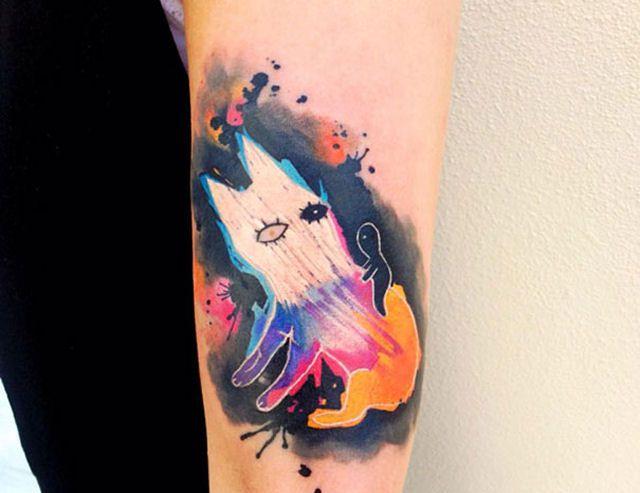 26 ejemplos de tatuajes estilo acuarela artistica 13