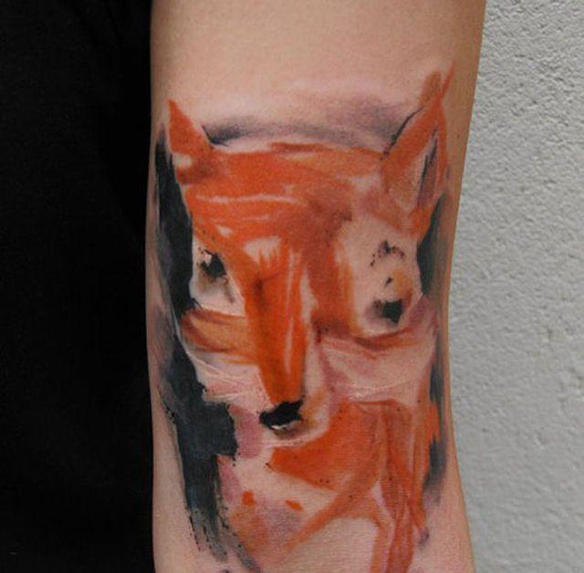 26 ejemplos de tatuajes estilo acuarela artistica 24