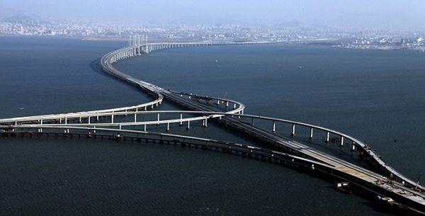 Puente de la bahía Jiaozhou