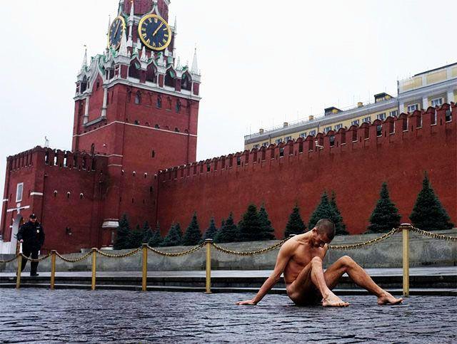 Pyotr Pavlensky Plaza Roja