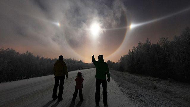 halo lunar laponia finlandesa