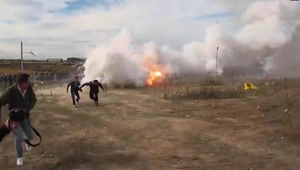 Fuegos artificiales estilo Italia
