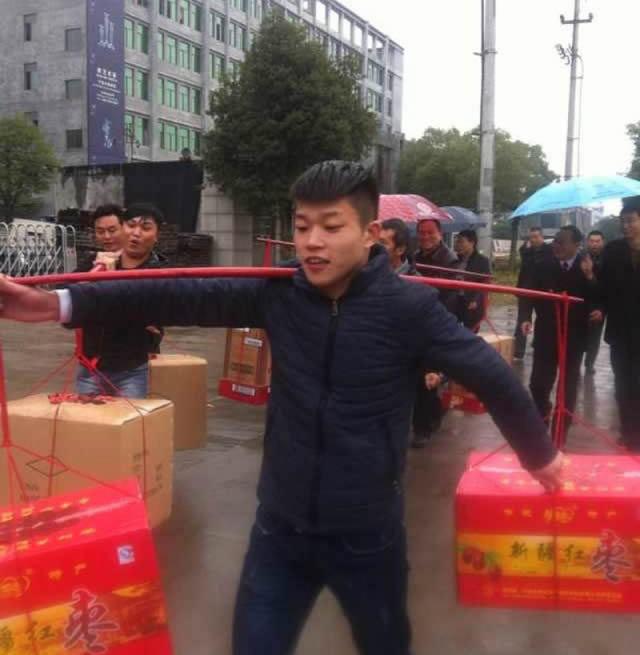 romantico robio chino regala canasta de dinero