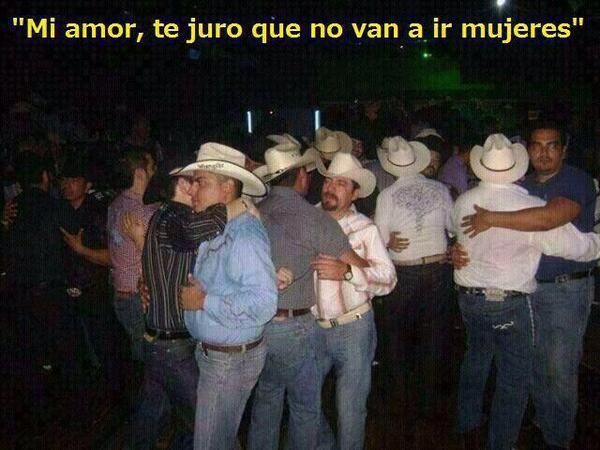 hombres de fiesta