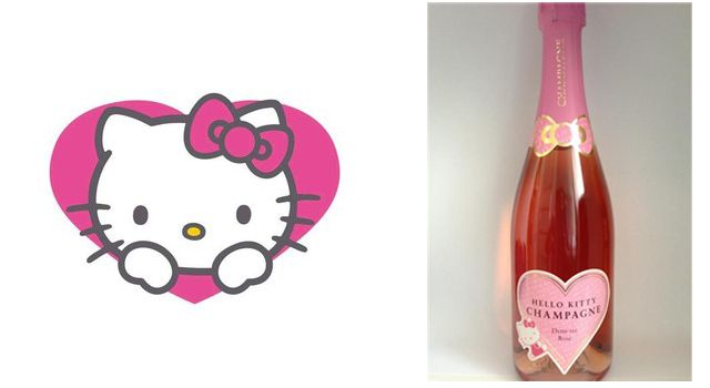 champagne semi-seco hello kitty