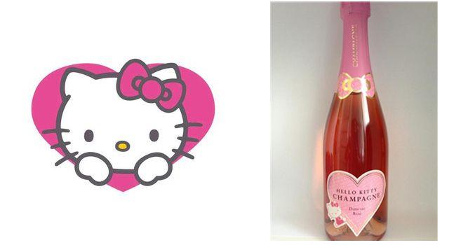 champagne semi-seco hello kitty