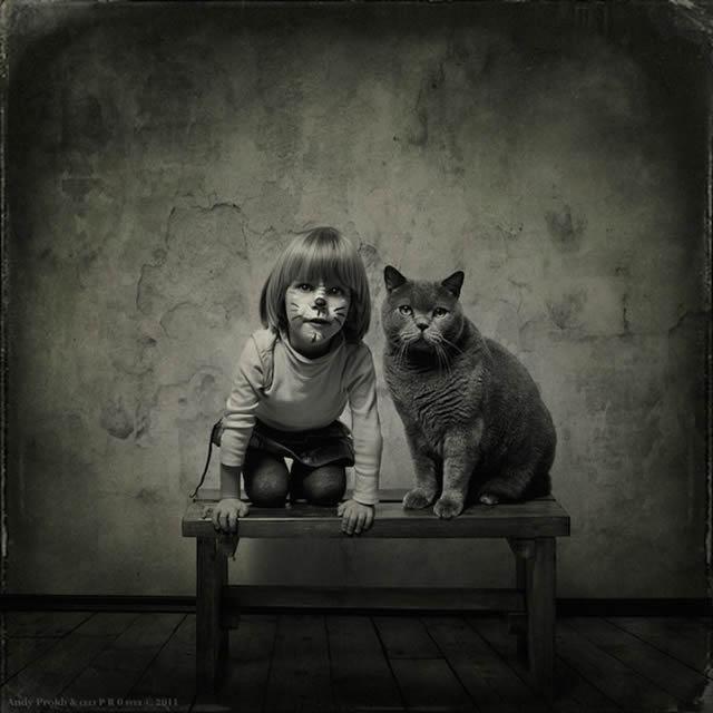 Andy Prokh Niña y el Gato (4)