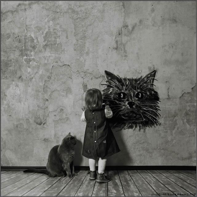 Andy Prokh Niña y el Gato (15)