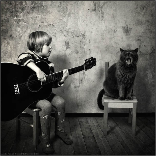 Andy Prokh Niña y el Gato (11)