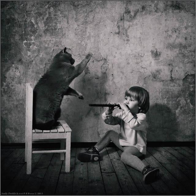 Andy Prokh Niña y el Gato (10)