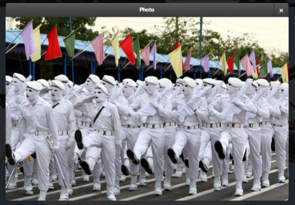 Ejército iraní blanco