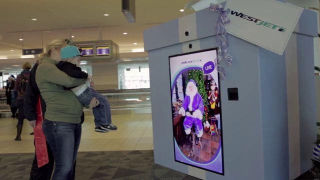 WestJet campaña navidad