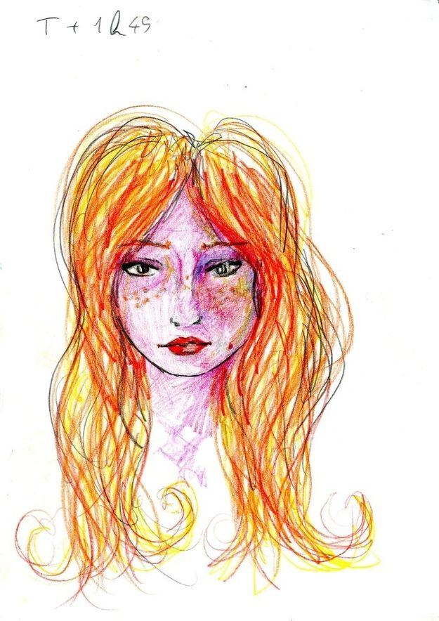 Dibujo autorretrato LSD (2)
