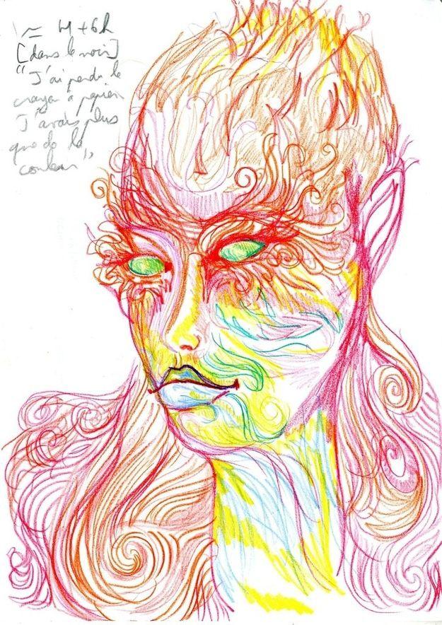 Dibujo autorretrato LSD (9)