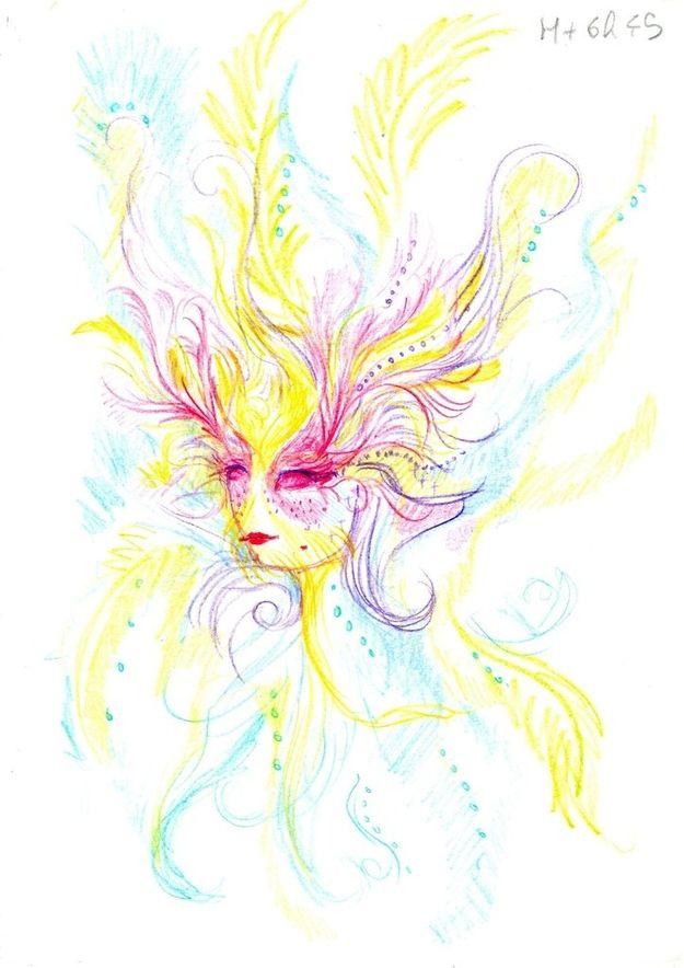 Dibujo autorretrato LSD (6)