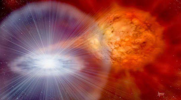 agujero negro absorbe galaxia