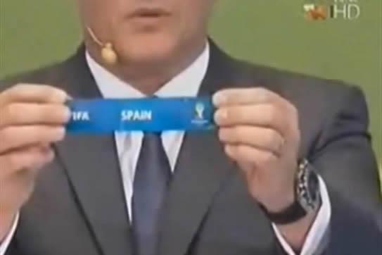 Video muestra supuesta manipulación de la FIFA en el sorteo del Mundial de Brasil 2014