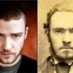 Fotos de famosos parecidos con personas del pasado