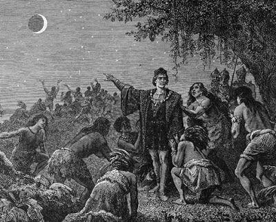Resultado de imagen para imagenes cristobal colon y eclipse