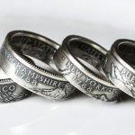 Originales anillos creados a partir de monedas
