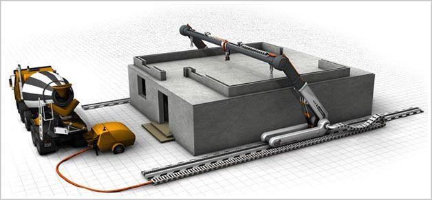 Impresora 3d capaz de construir casas en 24 horas marcianos - Crear casas 3d ...
