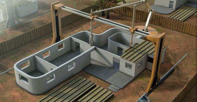 Impresora 3d capaz de construir casas en 24 horas marcianos for Construir casas en 3d