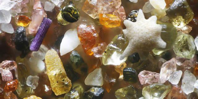 Resultado de imagen de Granos de arena vistos al microscopio