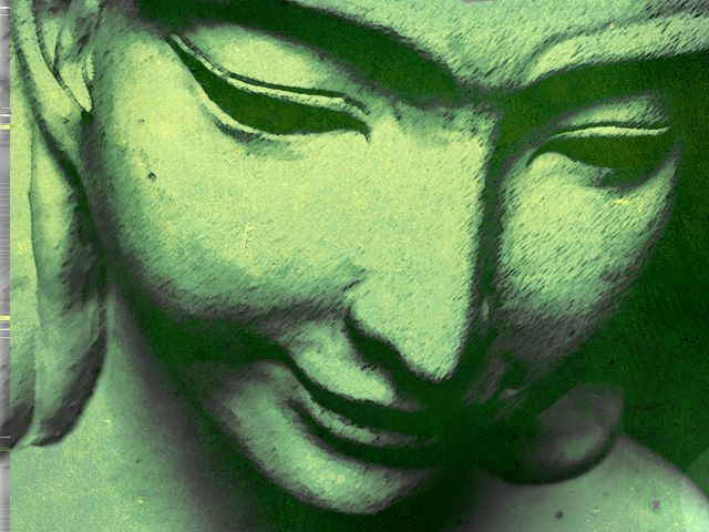 mujer verde