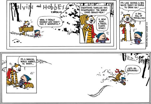 Ultima tira cómica Calvin y Hobbes