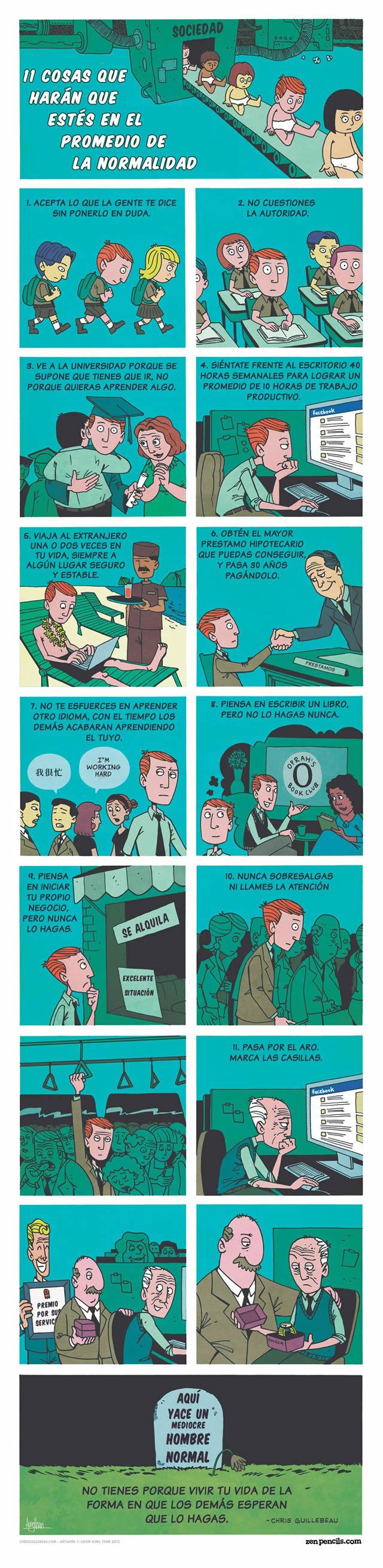 11 pasos para ser normal