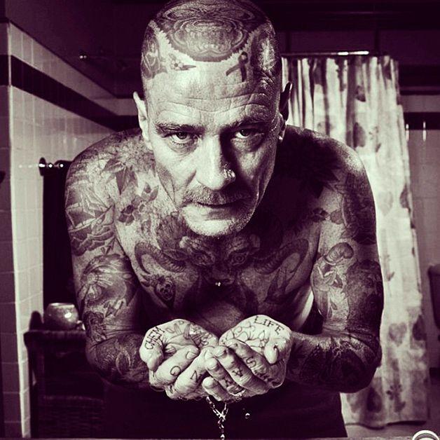 Tatuajes de bryan cranston