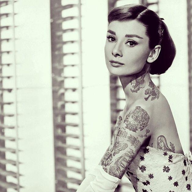 Tatuajes de audrey hepburn