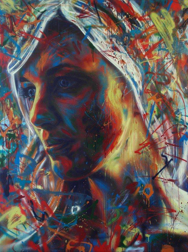 Retratos grafiti por David Walker (3)