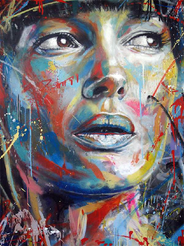 Retratos grafiti por David Walker (8)