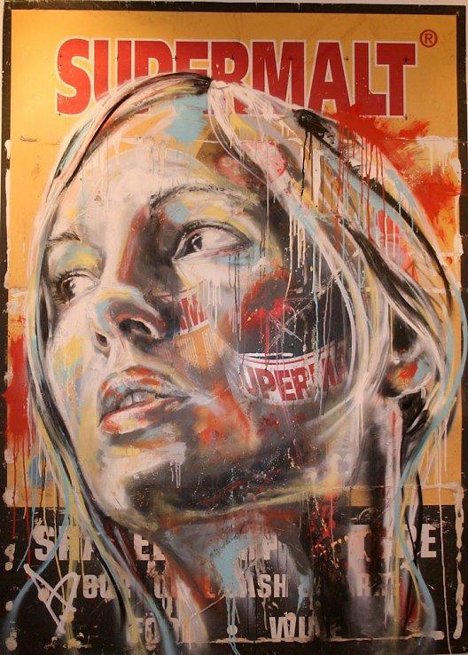 Retratos grafiti por David Walker (5)