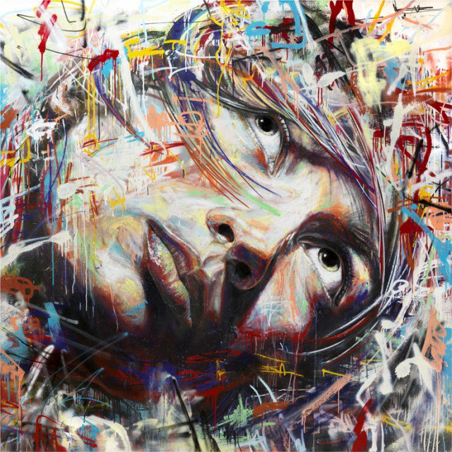 Retratos grafiti por David Walker (4)