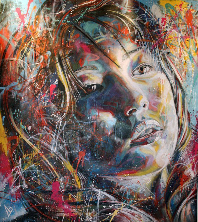 Retratos grafiti por David Walker (2)