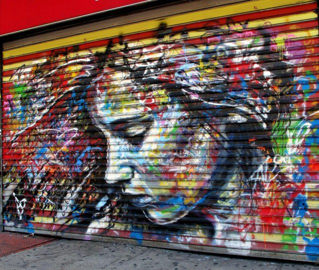 Retratos grafiti por David Walker (1)