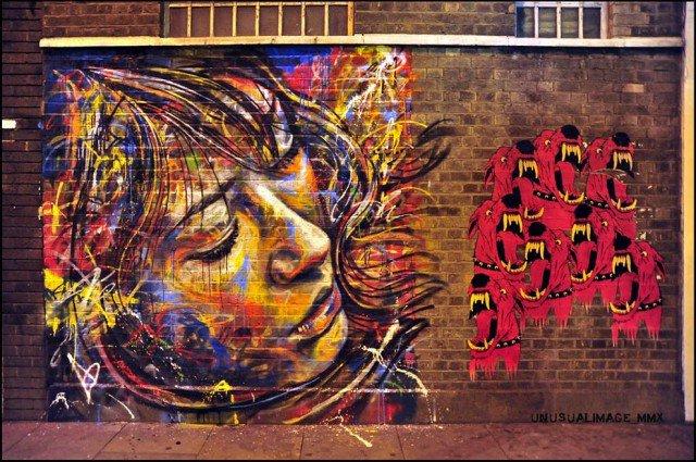 Retratos grafiti por David Walker (14)