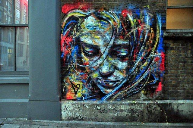 Retratos grafiti por David Walker (13)