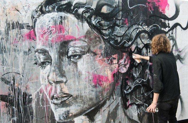 Retratos grafiti por David Walker (11)